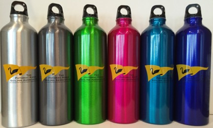 Colors of water bottles